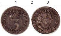 Изображение Монеты Великобритания 3 пенса 1689 Серебро VF