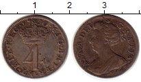 Изображение Монеты Великобритания 4 пенса 1710 Серебро XF-