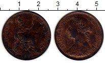 Изображение Монеты Великобритания 1/2 пенни 1887 Бронза XF