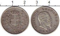 Изображение Монеты Италия 1 лира 1863 Серебро XF