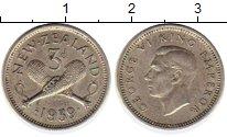 Изображение Монеты Новая Зеландия 3 пенса 1939 Серебро XF