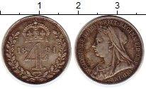 Изображение Монеты Великобритания 4 пенса 1894 Серебро XF