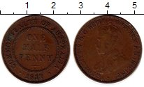 Изображение Монеты Австралия 1/2 пенни 1917 Бронза XF
