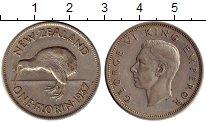 Изображение Монеты Новая Зеландия 1 флорин 1937 Серебро XF