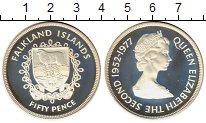 Изображение Монеты Великобритания Фолклендские острова 50 пенсов 1977 Серебро Proof-
