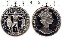 Изображение Монеты Гибралтар 1 крона 1992 Серебро Proof