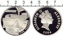 Изображение Монеты Великобритания Олдерни 5 фунтов 2004 Серебро Proof