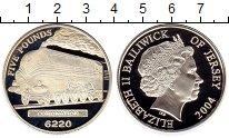Изображение Монеты Остров Джерси 5 фунтов 2004 Серебро Proof