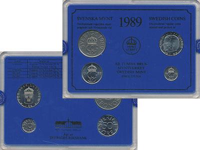 Изображение Подарочные монеты Швеция Набор монет 1989 года 1989  UNC Набор посвящён монет