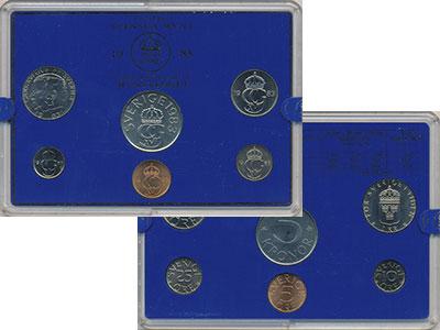 Изображение Подарочные монеты Швеция Набор монет 1983 года 1983  UNC `В наборе 6 монет но