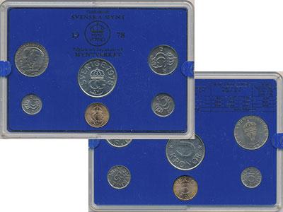 Изображение Подарочные монеты Швеция Набор монет 1978 года 1978  UNC `В наборе 6 монет но