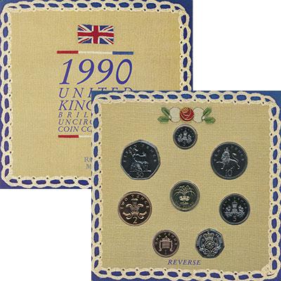 Изображение Подарочные монеты Великобритания Регулярный выпуск 1990 года 1990  UNC Подарочный набор Вел