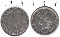 Изображение Дешевые монеты Аргентина 1 песо 1959 Медно-никель XF