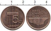 Изображение Дешевые монеты Нидерланды 5 центов 2000 Медь XF
