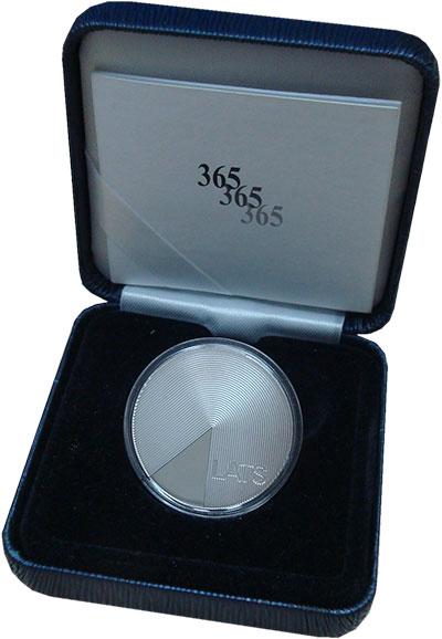 Изображение Подарочные монеты Латвия 1 лат 2013 Серебро Proof 365. <br>Ag 925, ве