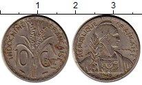 Изображение Монеты Франция Индокитай 10 центов 1940 Медно-никель XF