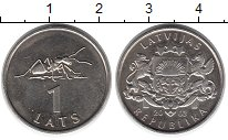 Изображение Монеты Латвия 1 лат 2003 Медно-никель UNC-
