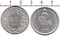 Изображение Монеты Швейцария 2 франка 1911 Серебро XF+