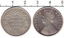 Изображение Монеты Индия 1/2 рупии 1884 Серебро XF