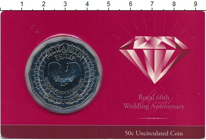 Изображение Подарочные монеты Австралия 50 центов 2007 Медно-никель UNC Елизавета II.  Монет