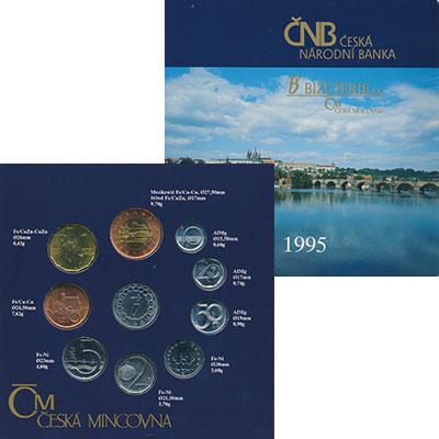 Изображение Подарочные монеты Чехия Набор 1995 года 1995  UNC- Годой набор из девят