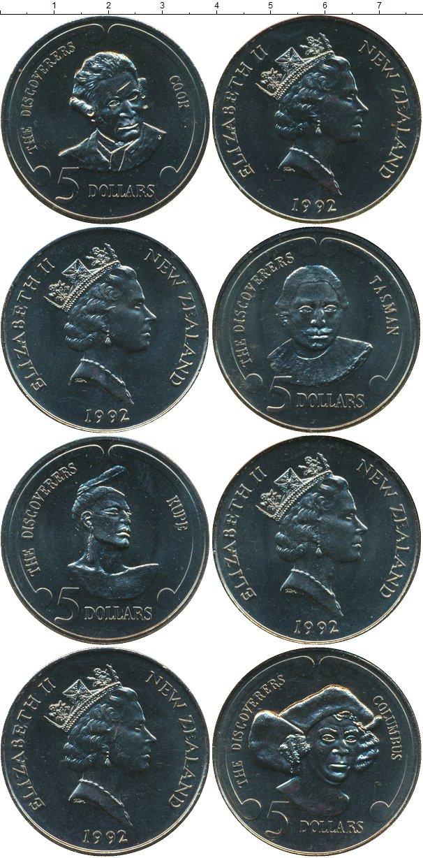 Набор монет Новая Зеландия Экспо-1992 (Великие открытия) Медно-никель 1992 UNC фото 2