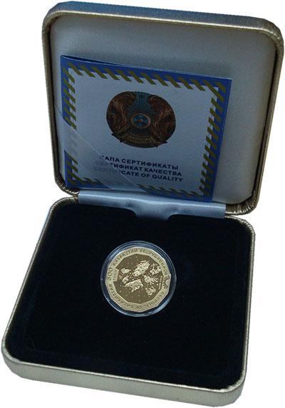 Изображение Подарочные монеты Казахстан 500 тенге 2012 Золото Proof Восточный календраь.
