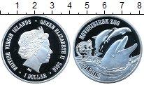 Изображение Мелочь Виргинские острова 1 доллар 2016 Посеребрение UNC