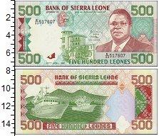 Банкнота Сьерра-Леоне 500 леоне 1991 UNC фото