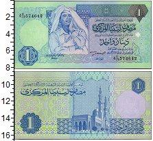 Изображение Банкноты Ливия 1 динар 0  UNC