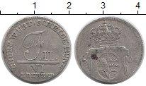 Изображение Монеты Вюртемберг 6 крейцеров 1804 Серебро VF
