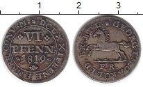 Изображение Монеты Германия Брауншвайг-Вольфенбюттель 6 пфеннигов 1819 Серебро XF