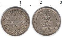 Изображение Монеты Германия Гессен-Дармштадт 1 крейцер 1866 Серебро XF