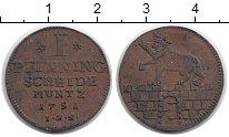 Изображение Монеты Германия Анхальт-Бернбург 1 пфенниг 1751 Медь XF