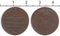Изображение Монеты Силезия 1/2 крейцера 1806 Медь XF