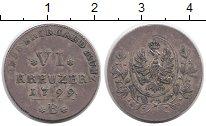 Изображение Монеты Германия Бранденбург-Ансбах 6 крейцеров 1799 Серебро XF