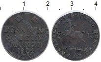 Изображение Монеты Брауншвайг-Вольфенбюттель 1 пфенниг 1824 Медь VF