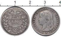 Изображение Монеты Нидерланды 25 центов 1895 Серебро XF