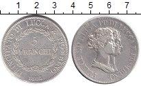 Изображение Монеты Лукка 5 франков 1808 Серебро XF