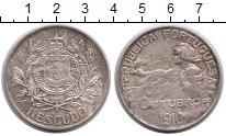Изображение Монеты Португалия 1 эскудо 1910 Серебро XF