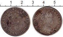 Изображение Монеты Франция 1/4 экю 1644 Серебро VF