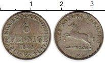 Изображение Монеты Германия Ганновер 6 пфеннигов 1846 Серебро XF