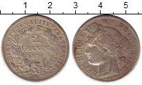 Изображение Монеты Франция 2 франка 1871 Серебро VF
