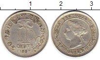 Изображение Монеты Шри-Ланка Цейлон 10 центов 1897 Серебро XF