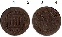 Изображение Монеты Германия Косфельд 4 пфеннига 1763 Медь XF