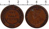 Изображение Монеты Австралия 1/2 пенни 1929 Медь XF