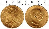 Изображение Монеты Австрия 100 крон 1915 Золото UNC-