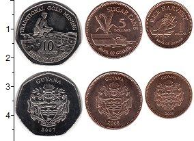 Изображение Наборы монет Гайана Гайана 2007-2008 2007  UNC- В наборе 3 монеты но