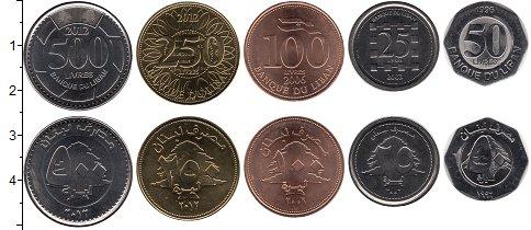 Изображение Наборы монет Ливан Ливан 1996-2012 0  UNC- В наборе 5 монет ном