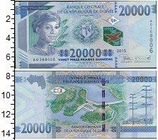 Изображение Банкноты Гвинея 20.000 франков 2015  UNC Женский портрет, лет
